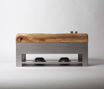 RVS tafelroker ontwerp Ollivier Piqueray